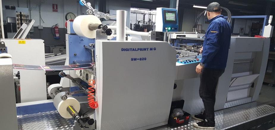 Instalación de la laminadora SW-820 en Cevagraf